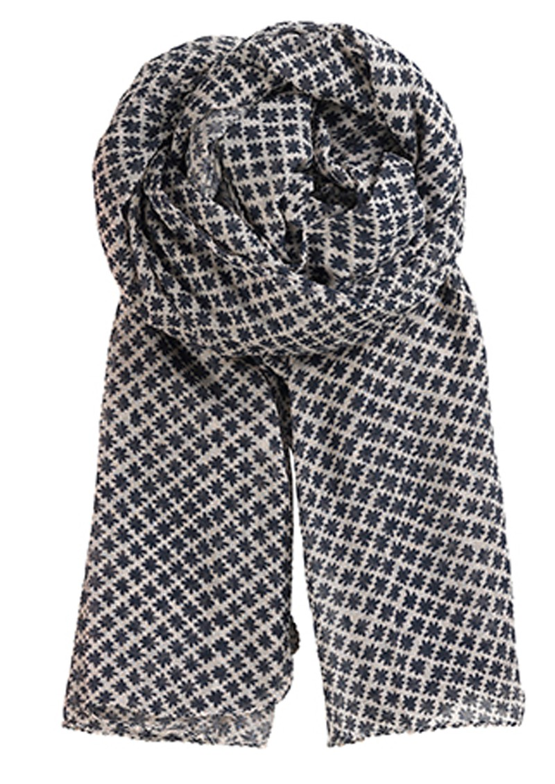 Becksondergaard L-Mini Flake Cotton Scarf - Night Blue main image
