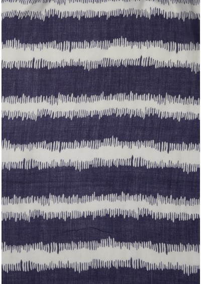 Mercy Delta Ikat Navy Stripe Cashmere Mix Scarf - Navy main image