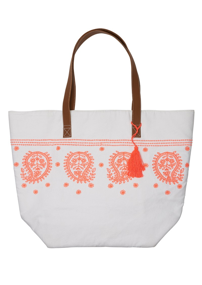 Handmade Embroidered Beach Bag - Multi main image