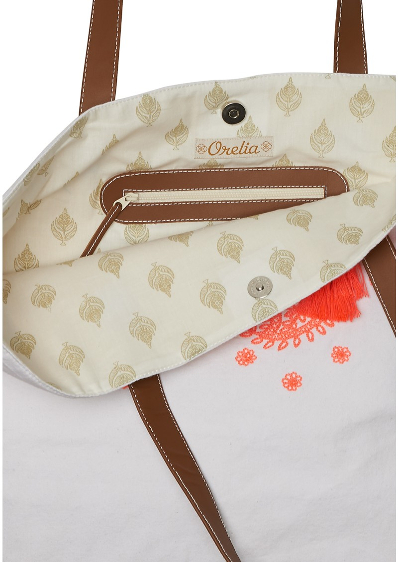 ORELIA Handmade Embroidered Beach Bag - Multi main image