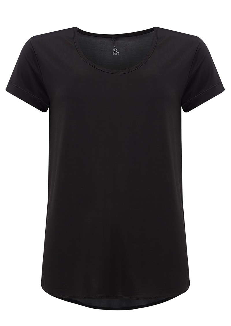 2nd Day Sheer Short Sleeve Top - Black main image
