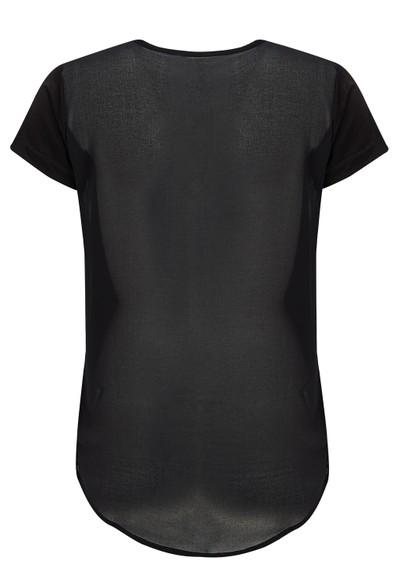 2nd Day Sheer Short Sleeve Top - Black main image