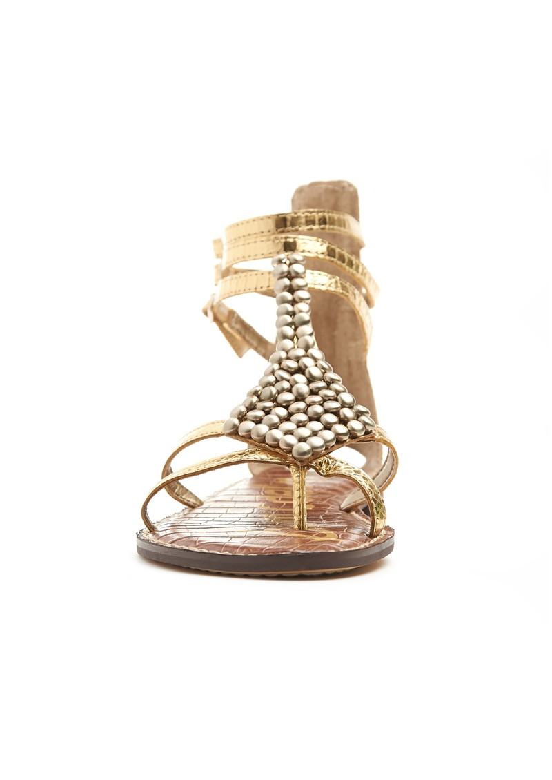 Sam Edelman Ginger Boa Embellished Sandals - Gold main image