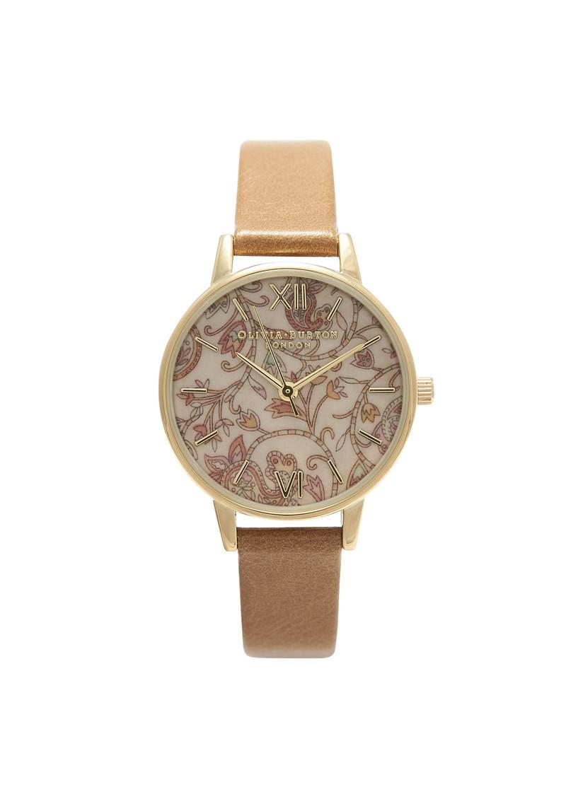 Olivia Burton Wonderland Watch - Camel & Paisley main image