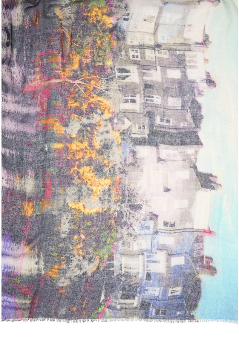 Hampstead Cashmere Mix Scarf - Violet main image