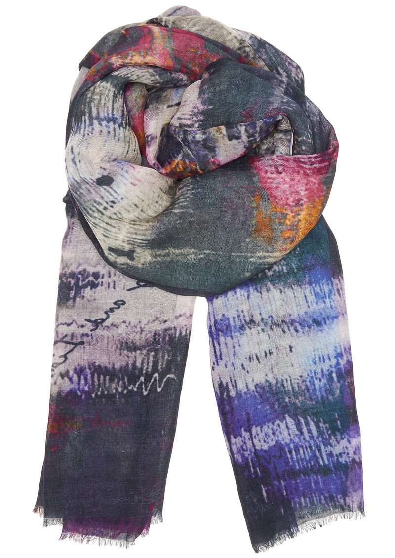 Hampstead Cashmere Mix Scarf - Violet main image