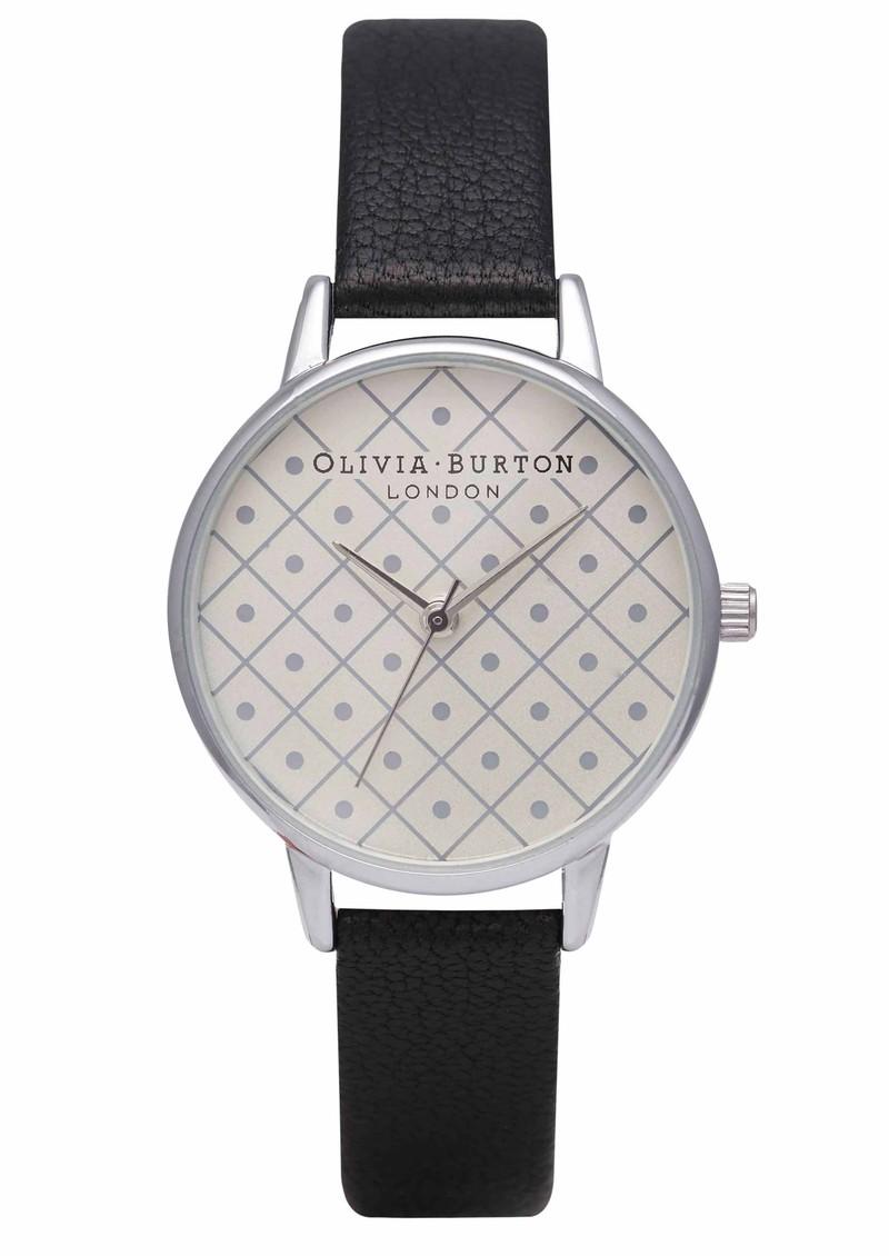 Olivia Burton Modern Vintage Watch - Silver & Black main image