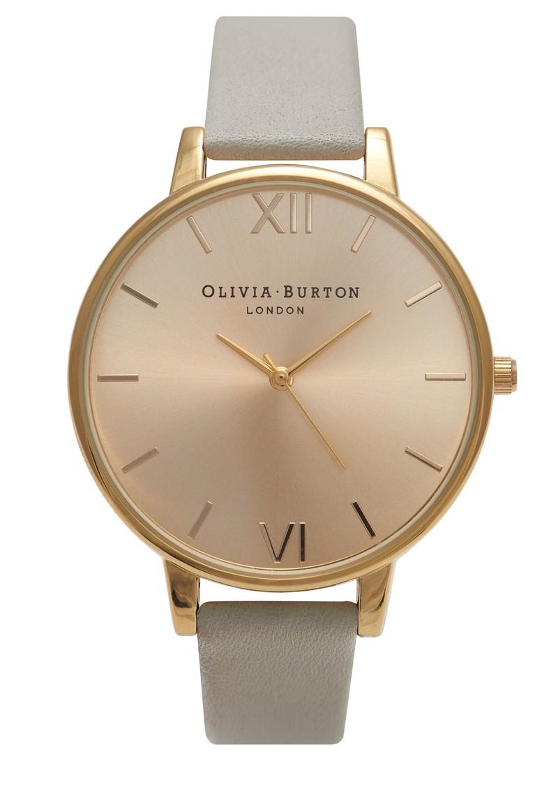 Olivia Burton Big Dial Watch - Gold & Grey main image