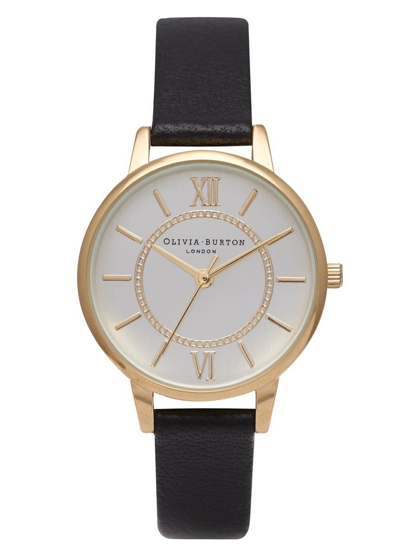 Olivia Burton Wonderland Watch - Gold & Black main image