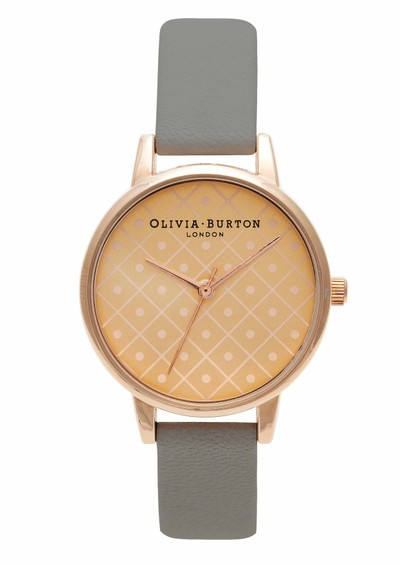 Olivia Burton Modern Vintage Watch - Rose Gold & Grey main image
