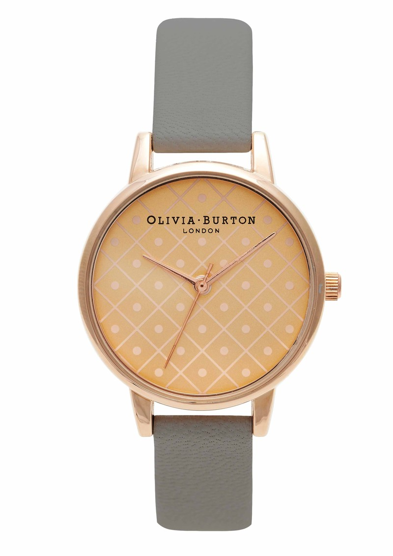Olivia Burton Modern Vintage Watch - Rose Gold & Grey main image