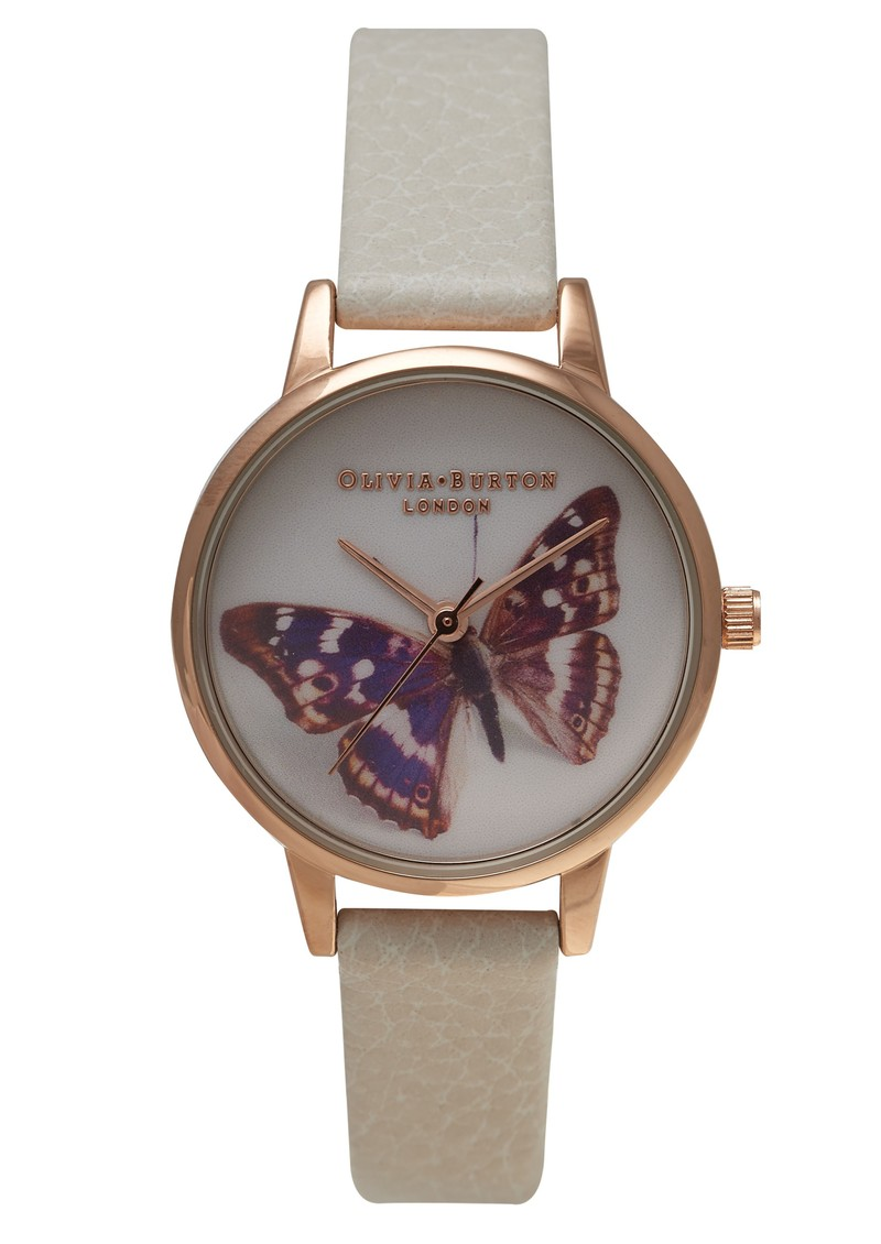 Midi Butterfly Watch - Rose Gold & Mink main image
