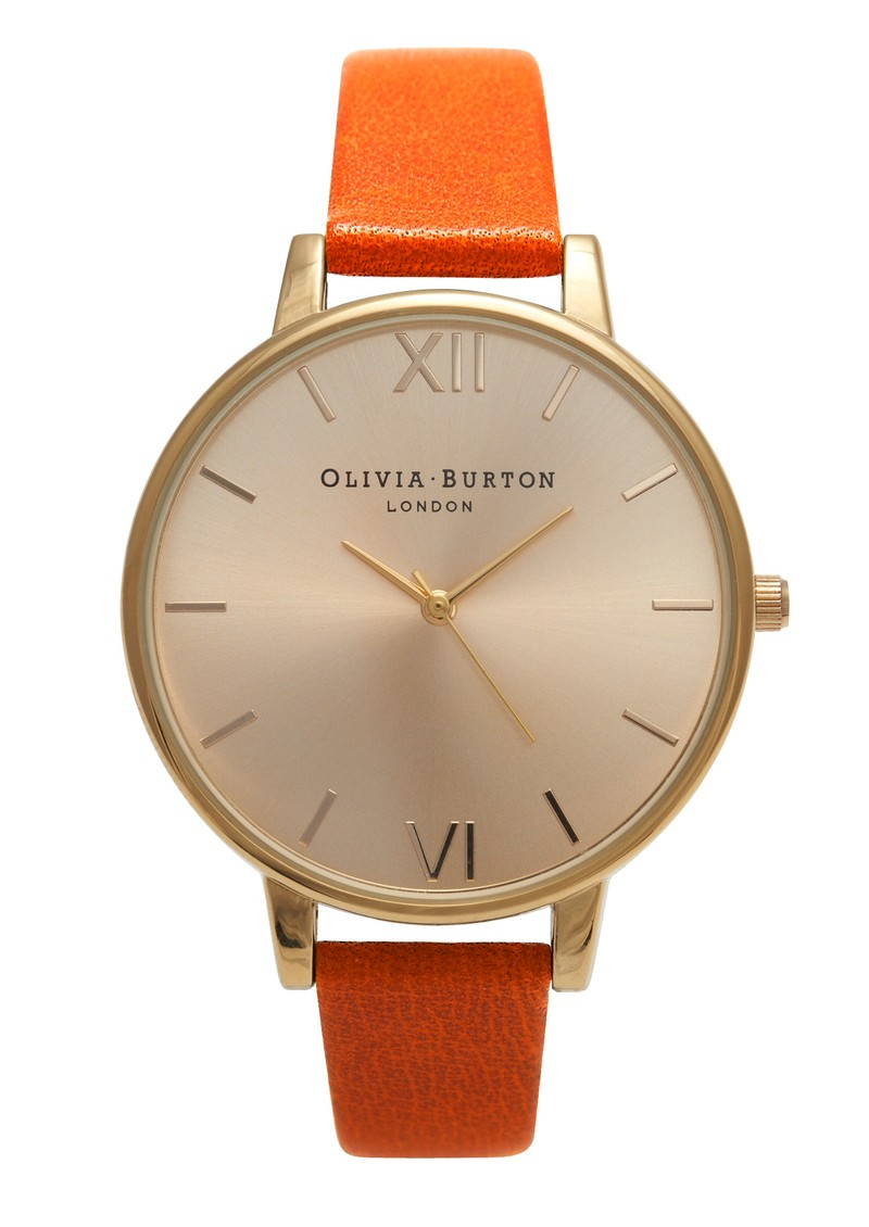 Olivia Burton Big Dial Watch - Gold & Burnt Orange main image