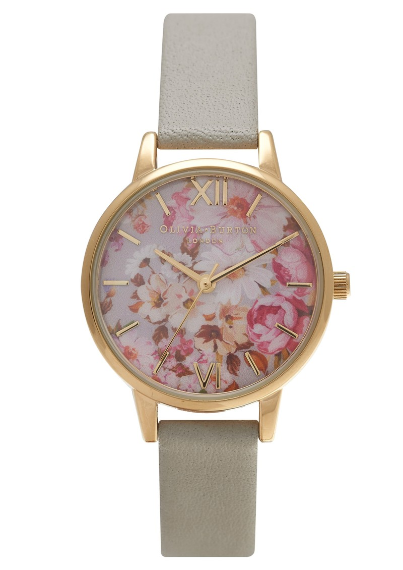 Olivia Burton Flower Show Watch - Gold & Grey main image