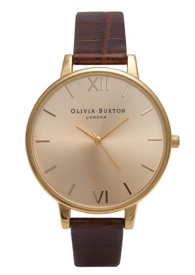 Olivia Burton Big Dial Watch - Gold & Cognac main image