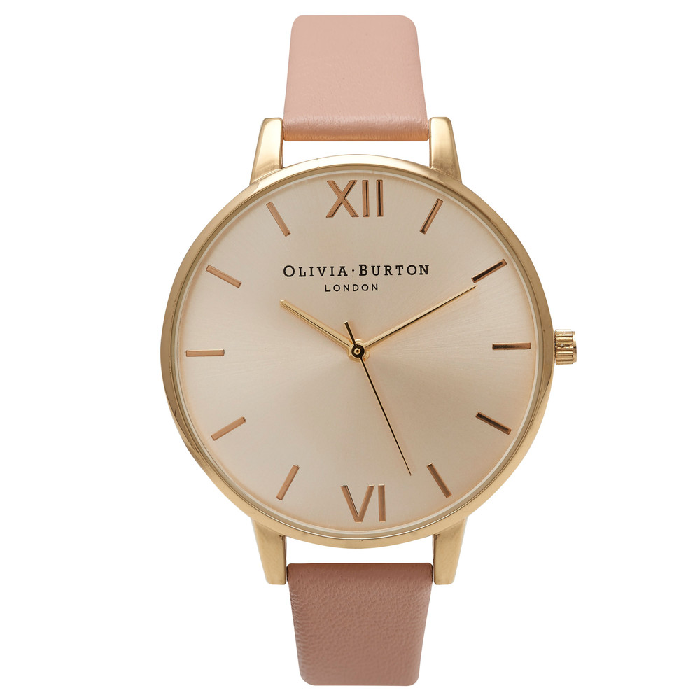 Big Dial Watch - Gold & Dusty Pink