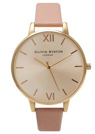 Olivia Burton Big Dial Watch - Gold & Dusty Pink