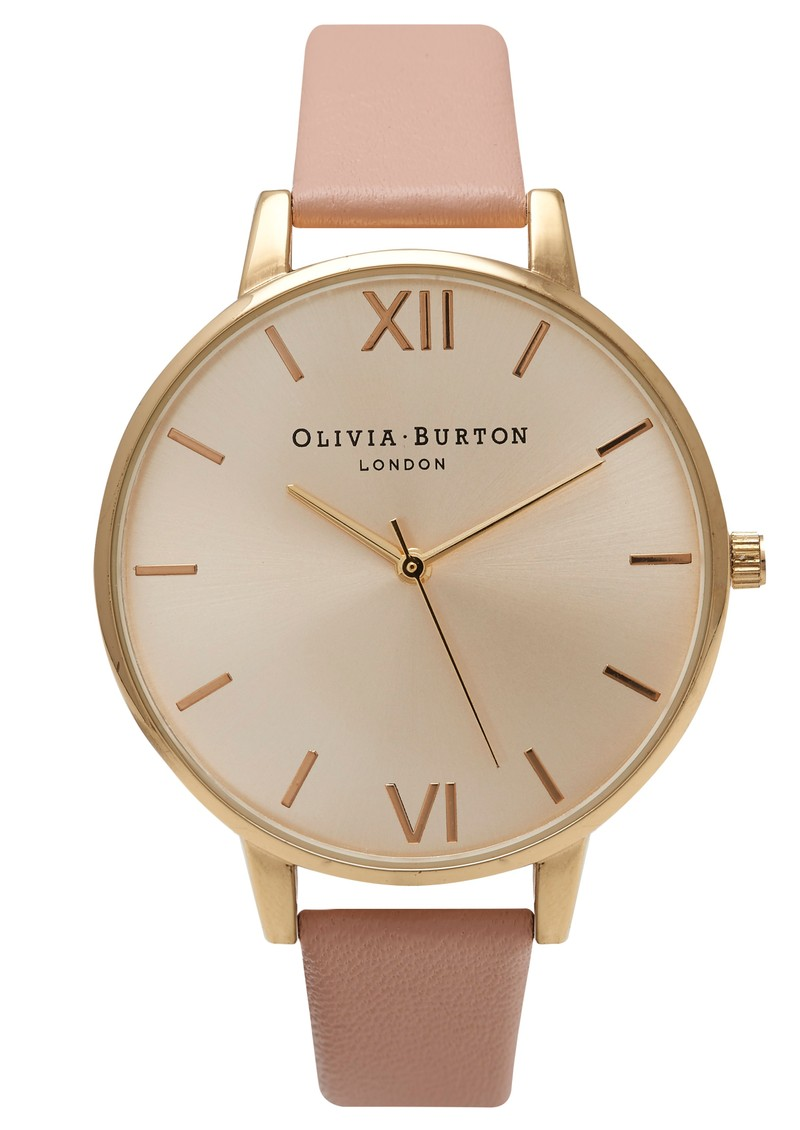 Olivia Burton Big Dial Watch - Gold & Dusty Pink main image