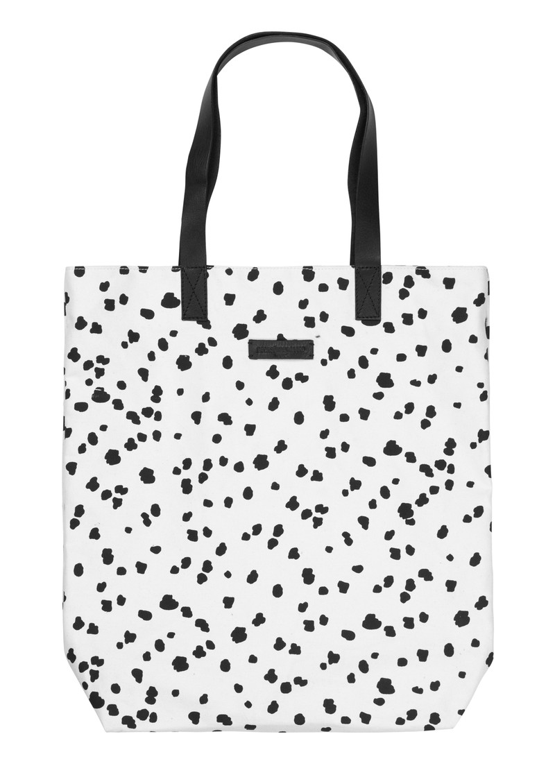 Becksondergaard L-Tote Animal Dot Cotton Bag - Black main image
