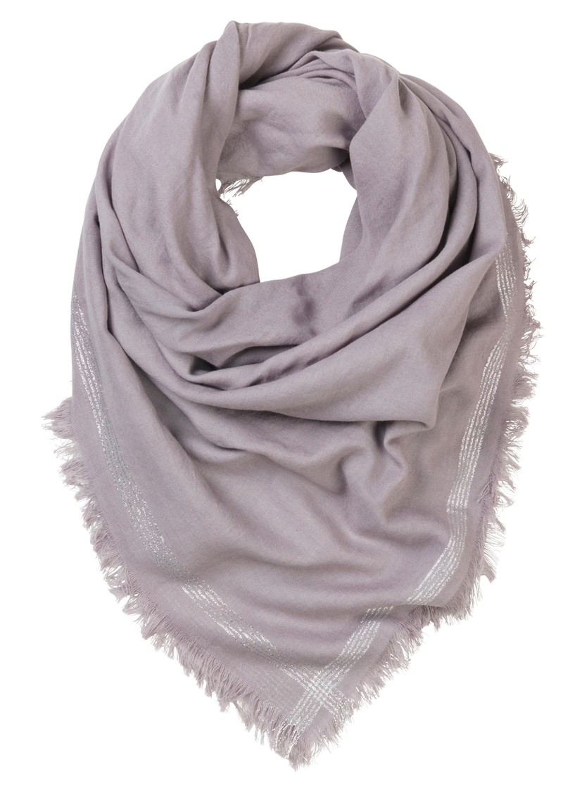 L-Fine Edge Cotton Scarf - Mouse main image