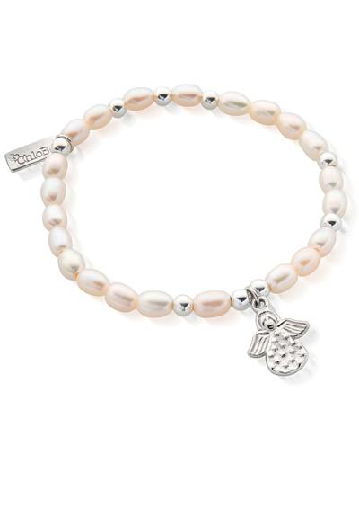 ChloBo Mini Made For An Angel Bracelet - Pearl & Silver main image