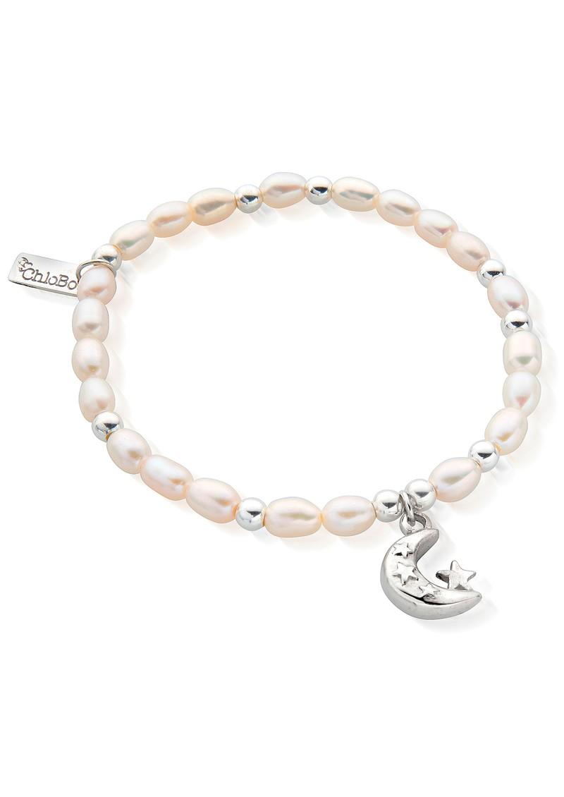 ChloBo Mini Moon & Stars Bracelet - Pearl & Silver main image