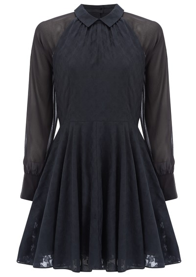 Paul and Joe Sister Robette Cotton Mix Shirt Dress - Navy main image
