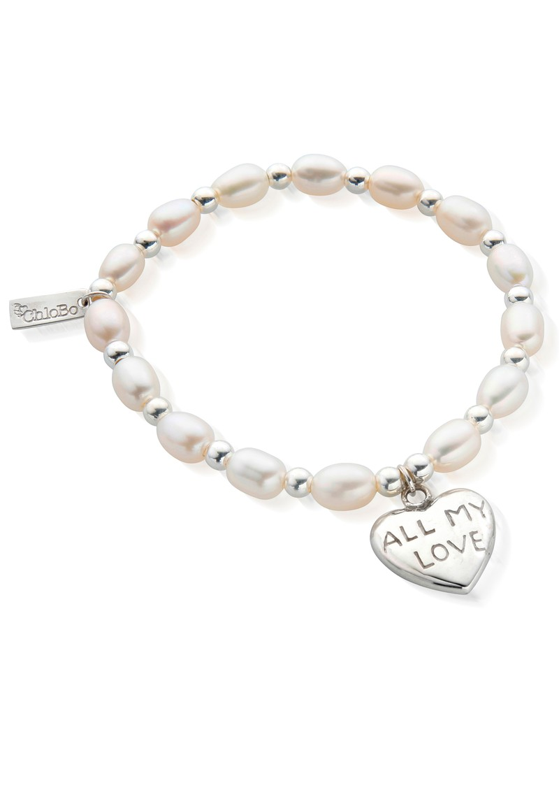 ChloBo Medium Charm All My Love Bracelet - Pearl & Silver main image