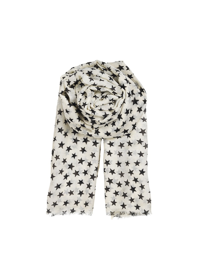 L-STARSTRUCK SILK MIX SCARF - WHITE main image