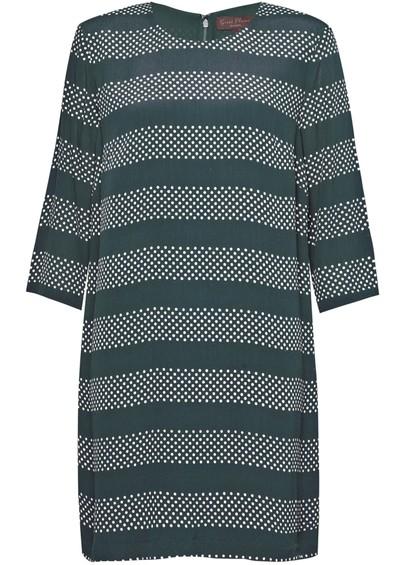 Great Plains BRETON SPOT STRIPE DRESS - GREEN main image