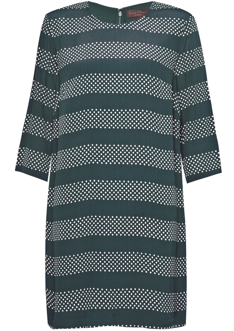 BRETON SPOT STRIPE DRESS - GREEN main image