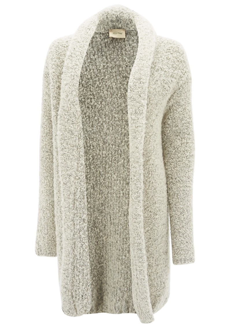 American Vintage MOAPA VALLEY OPEN KNIT CARDIGAN - HEATHER GREY main image
