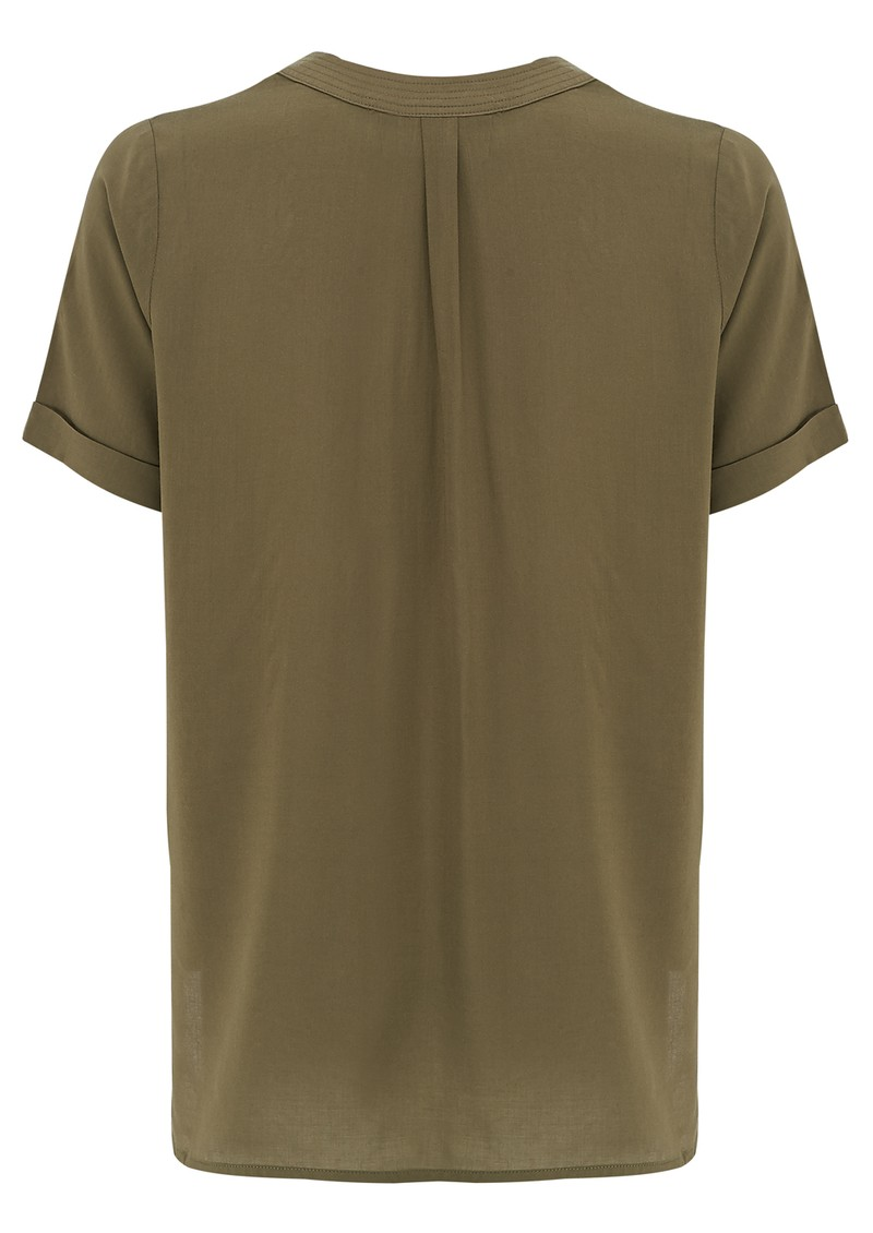 Cool Text Slouchy Tee - Olive main image