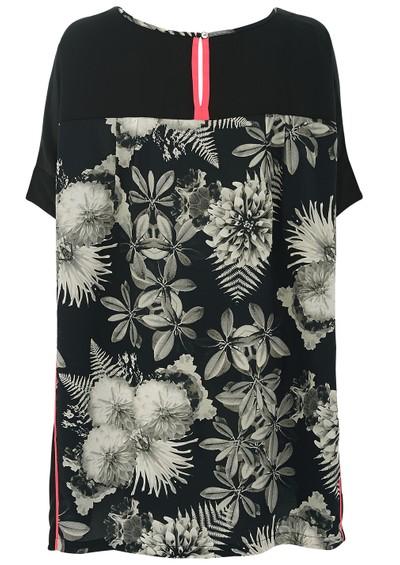 Pyrus Spellbound Silk Printed Dress - Eden Black main image