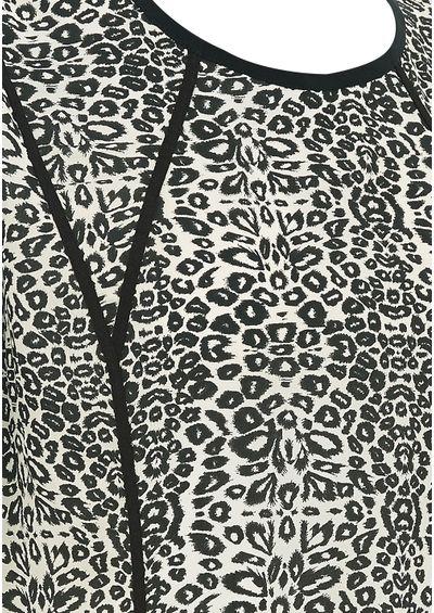 Pyrus Luca Printed Short Sleeve Dress - Animal Print main image