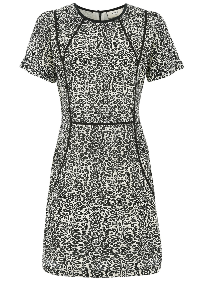 Pyrus Luca Printed Short Sleeve Dress - Animal Print main image