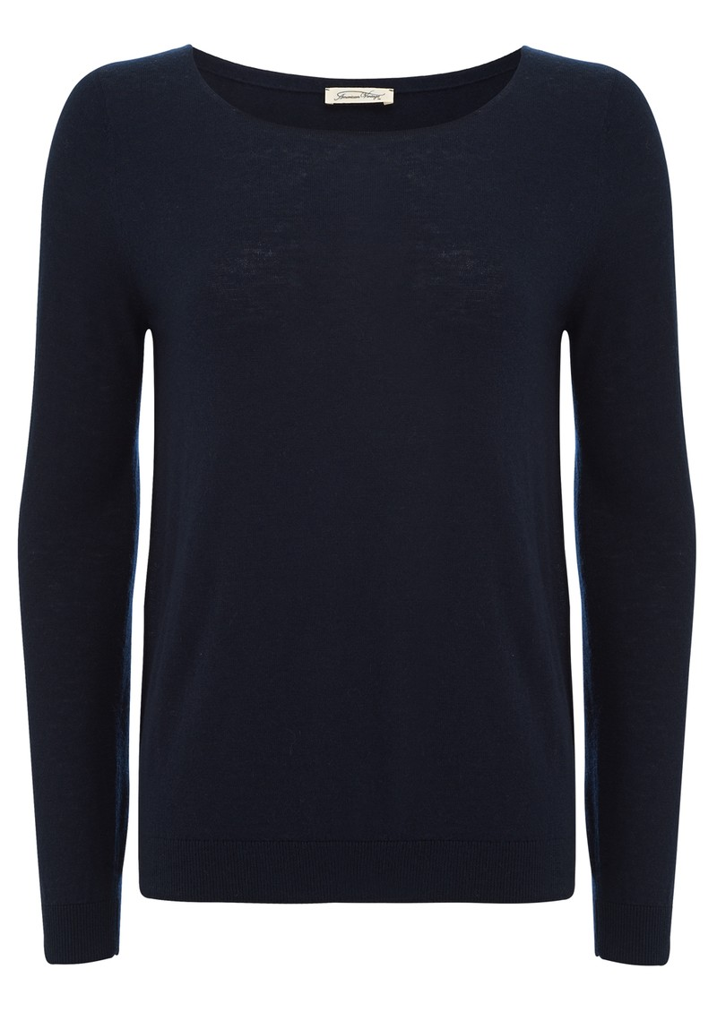Blossom Wool Mix Jumper - Navy main image