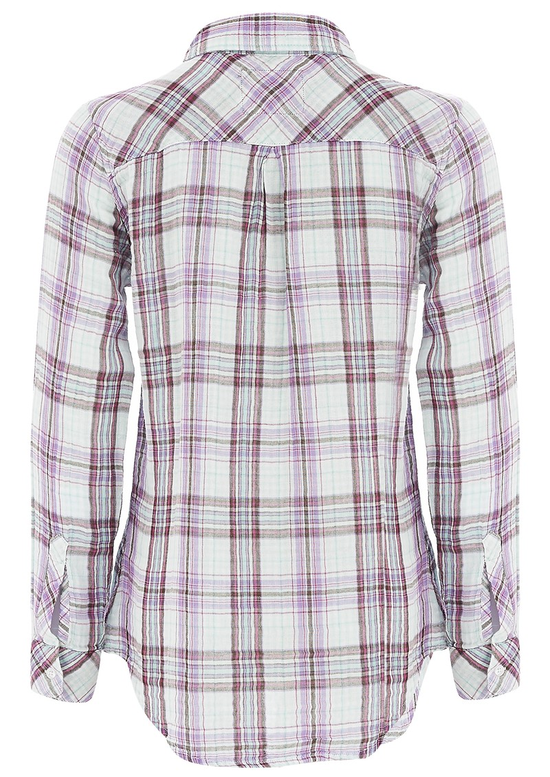 KENDRA CHECK SHIRT - MINT main image