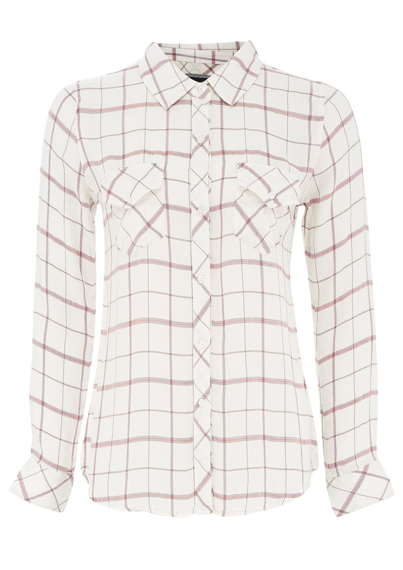 Rails CARMEN CHECK SHIRT - WHITE  main image