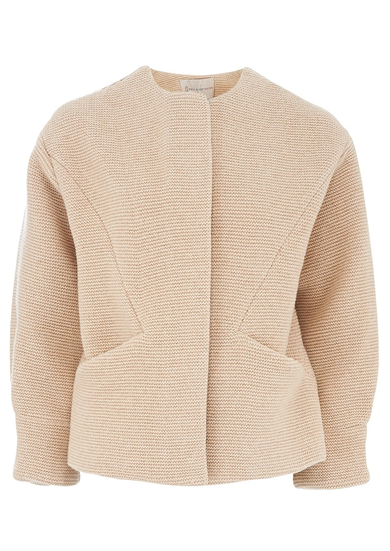 LUIDDI KNIT COAT - BEIGE main image