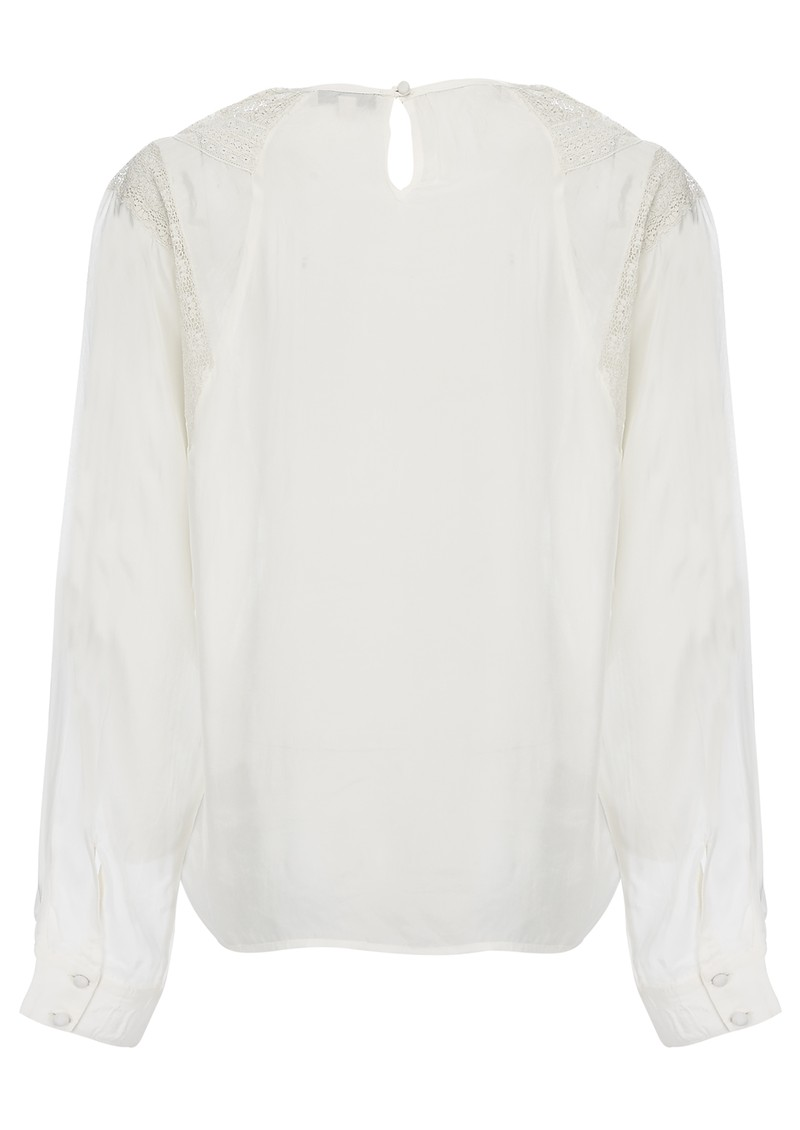 FERIQUE LACE BLOUSE - WHITE main image