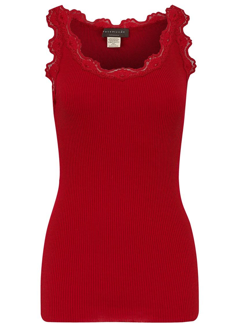 Rosemunde SILK BLEND LACE VEST - COSY RED main image