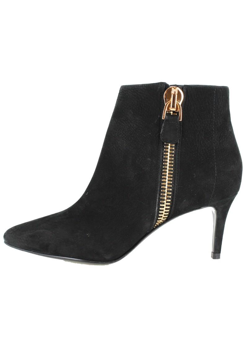 Lola Cruz DE ZIP SUEDE ANKLE BOOTS - BLACK main image