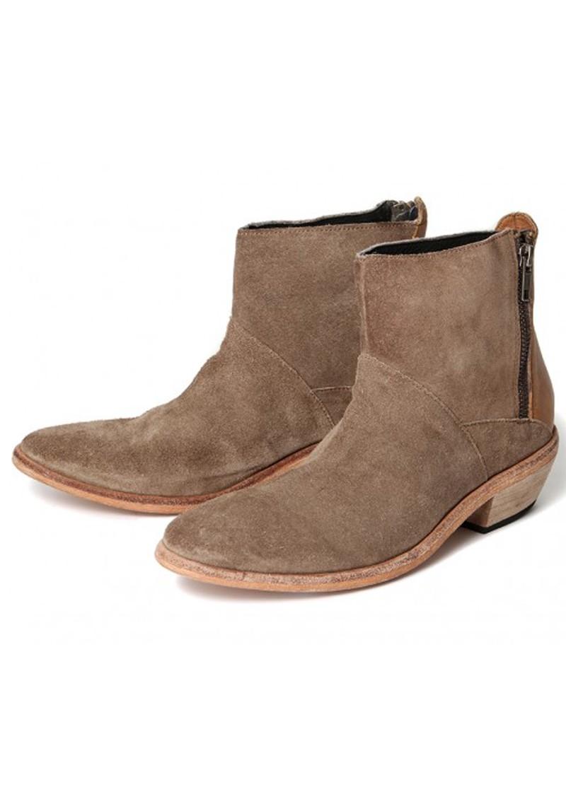 hudson fop suede ankle boot beige
