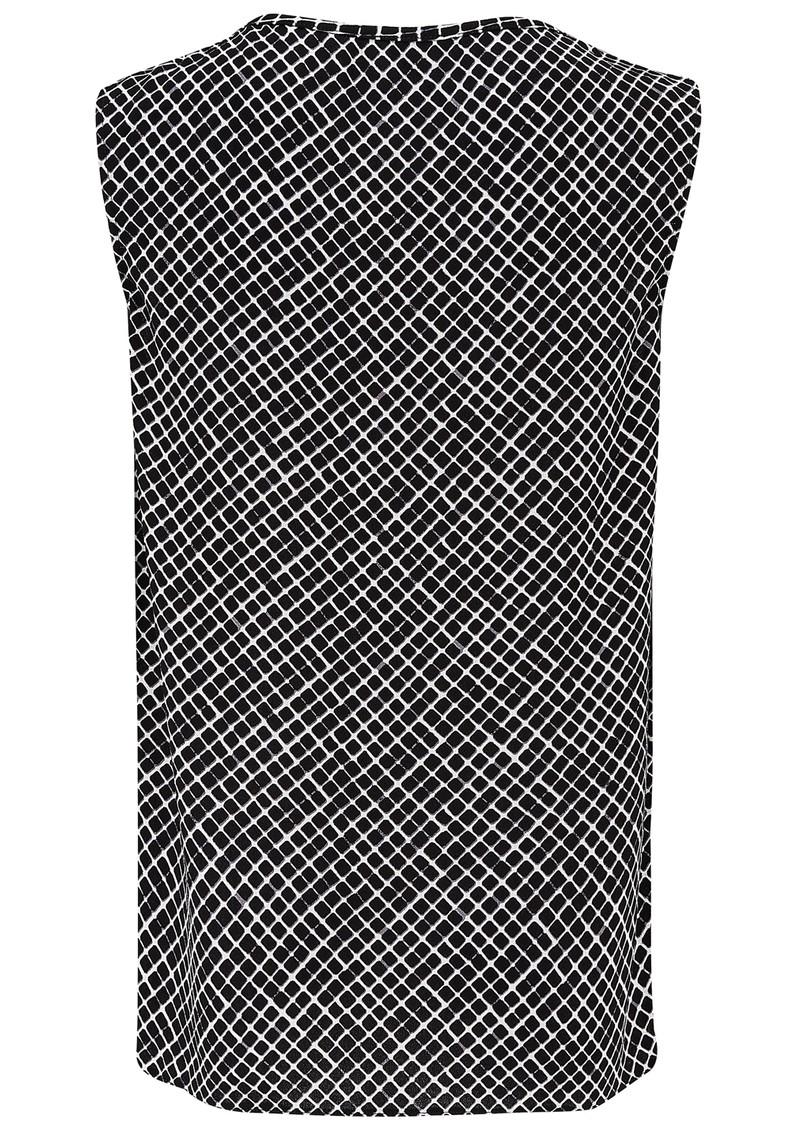 American Vintage TULSA SLEEVELESS TOP - PEPPER GRID main image