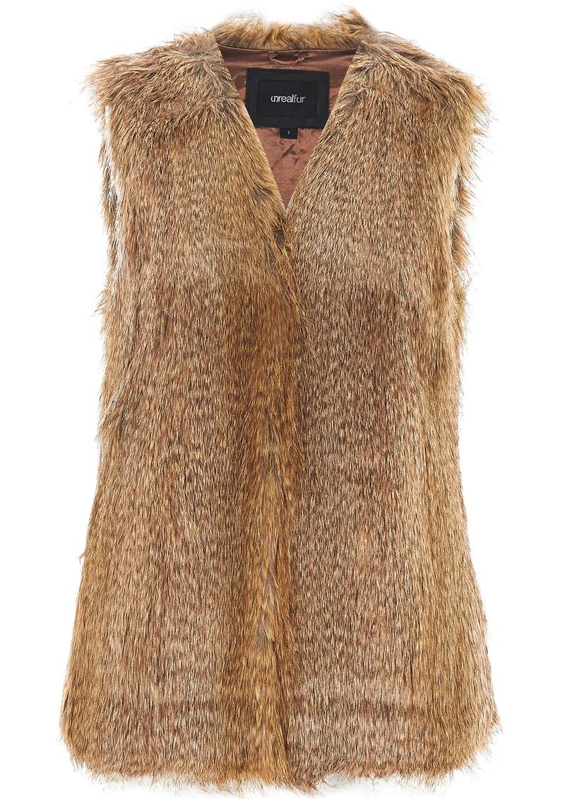 Unreal Fur ICE BREAKER VEST - NATURAL RACOON main image
