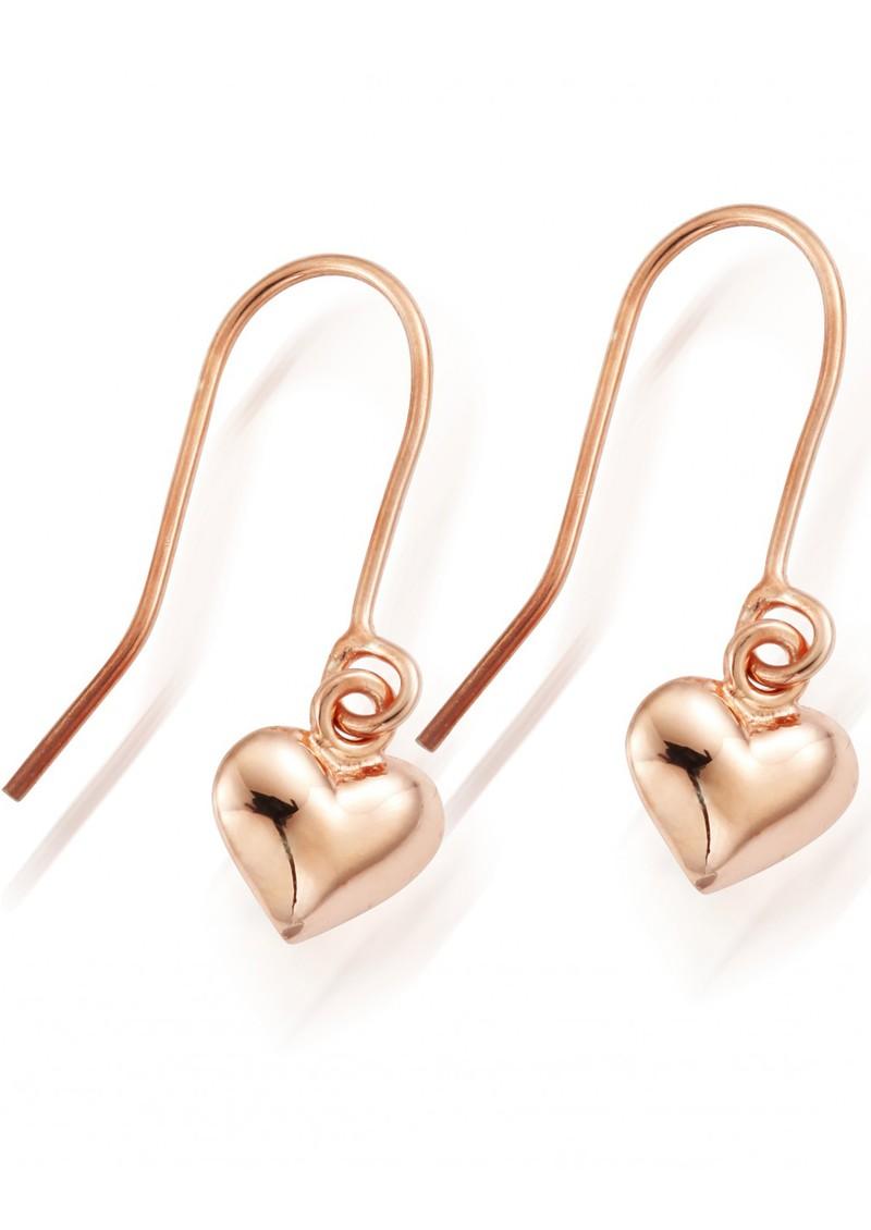 ChloBo STARRY EYES MINI PUFFED HEART EARRINGS - ROSE GOLD main image