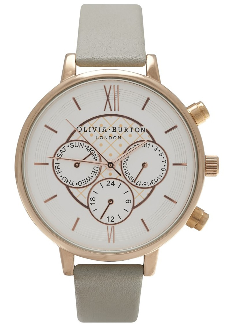 Olivia Burton CHRONO DETAIL WATCH - GREY & ROSE GOLD main image