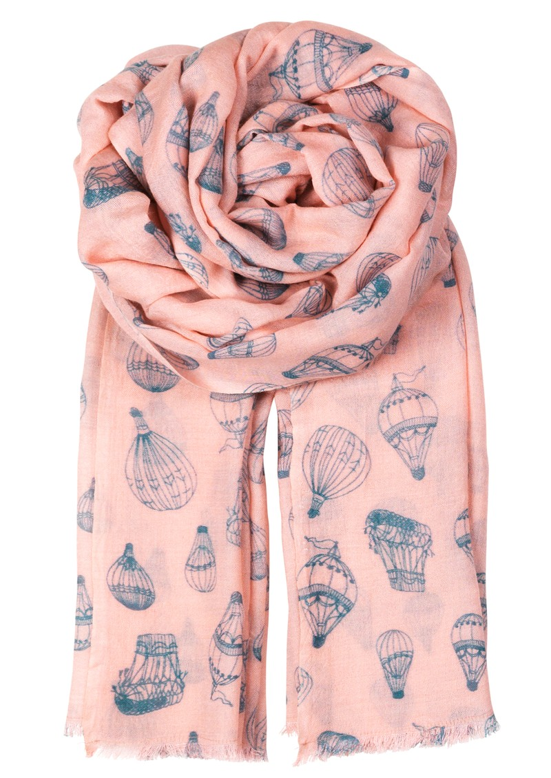 P - UP SILK & WOOL SCARF - ANGEL PINK main image
