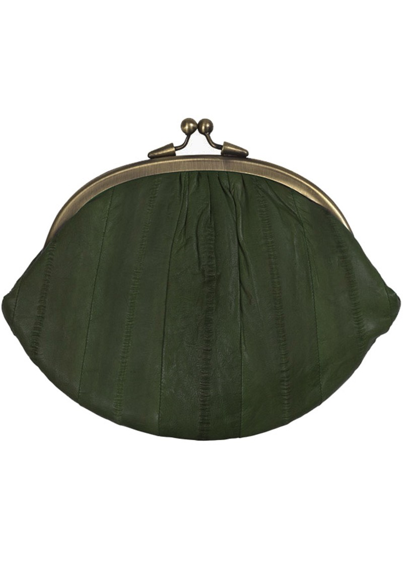 E - Eelskin Granny Purse - Airforce Green main image